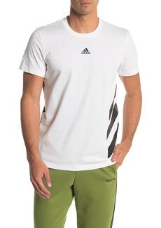 Adidas Stripe Logo Graphic T-Shirt