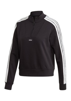 Adidas Stripe Sleeve Quarter Zip Sweater