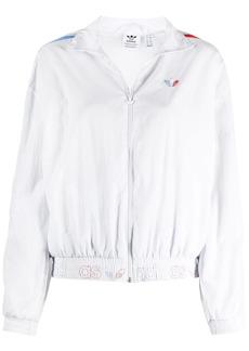 Adidas stripe-trimmed bomber jacket