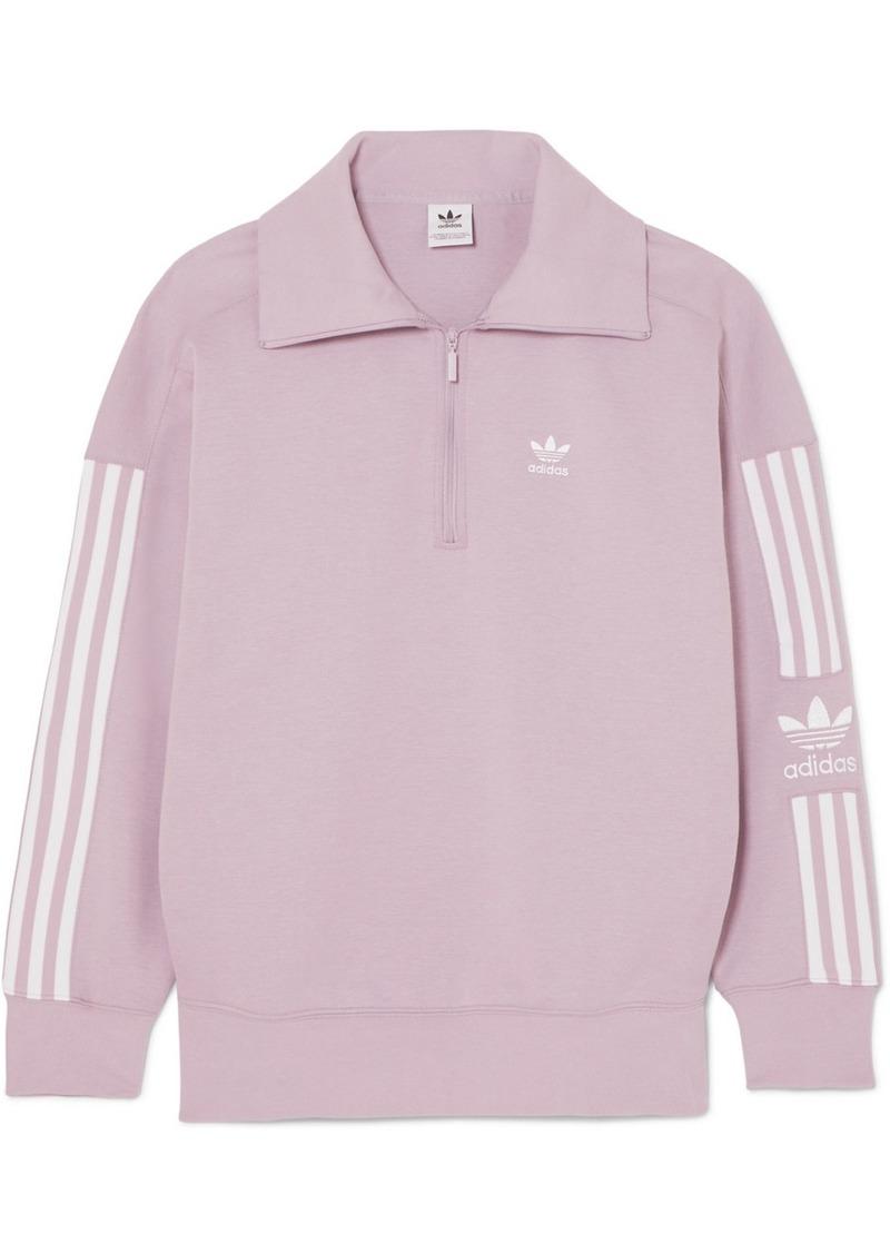 Striped Cotton-blend Jersey Sweatshirt