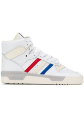 Adidas striped hi-top sneakers