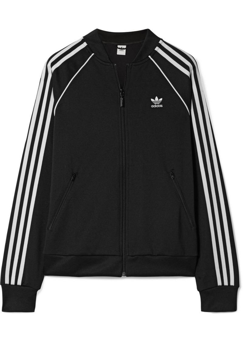 043533cd6dda Adidas Striped satin-jersey track jacket