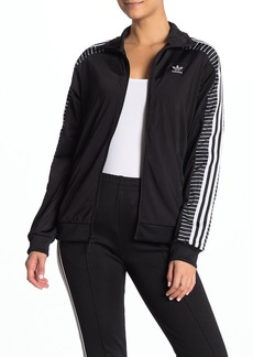 Adidas Striped Sleeve Zip Up Jacket