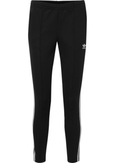 Adidas Striped Stretch-jersey Track Pants