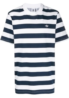 Adidas striped Trefoil T-shirt