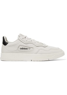 Adidas Super Court Suede-trimmed Leather Sneakers