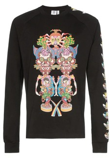 Adidas Tanaami graphic print long-sleeved cotton T-shirt