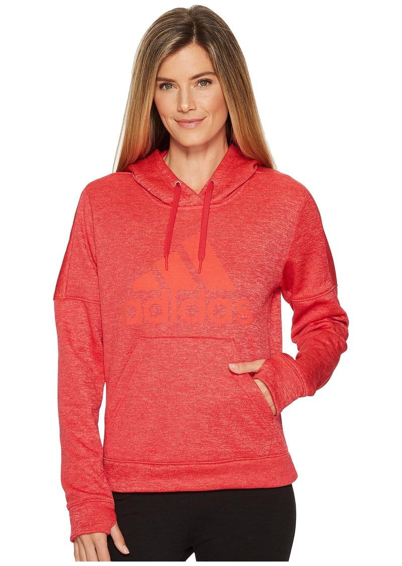 Adidas Team Issue Fleece Pullover Logo Hoodie