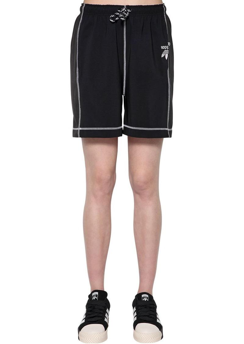 Adidas Tech Satin & Cotton Shorts