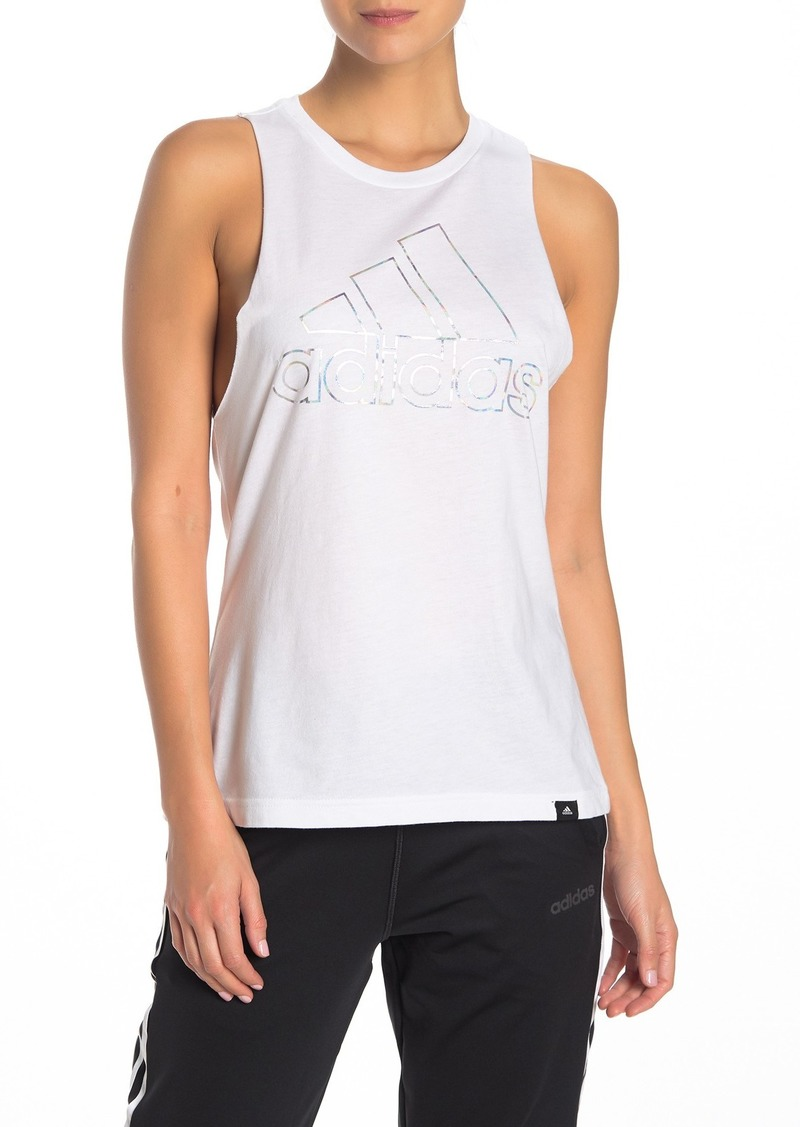 Adidas The Go-To Iridescent Logo Performance Tank Top