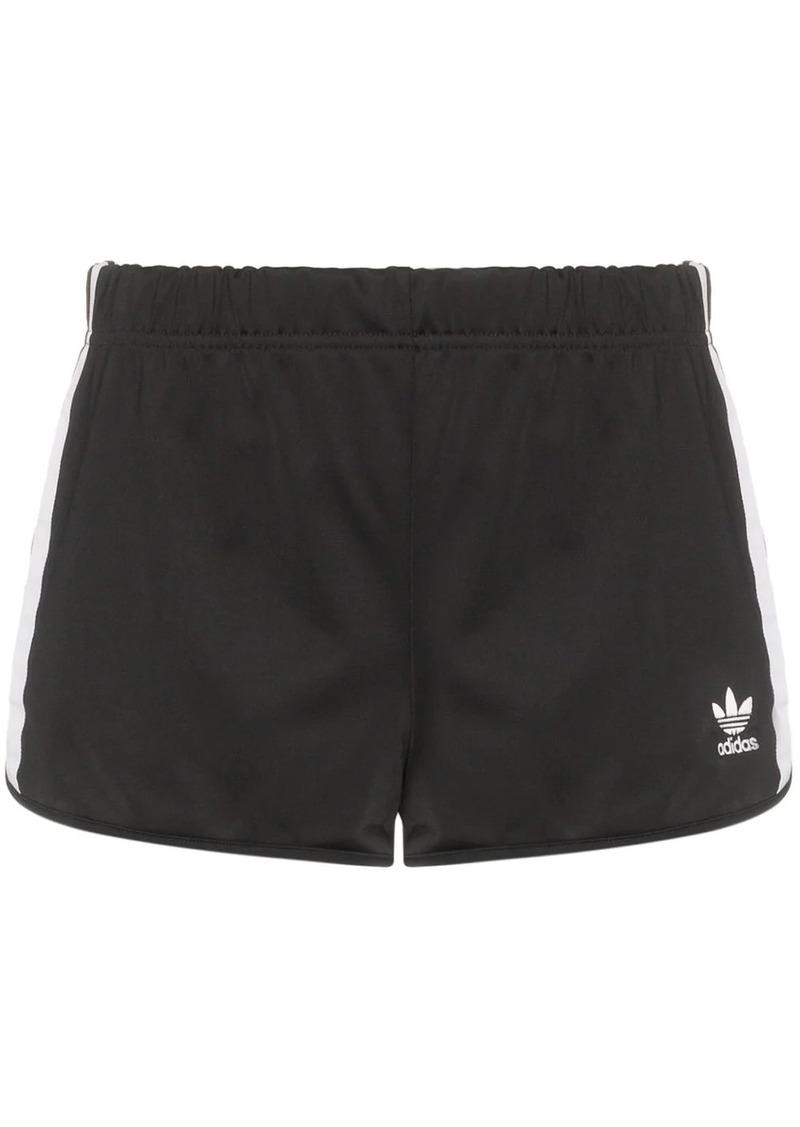 Adidas three-stripe logo shorts