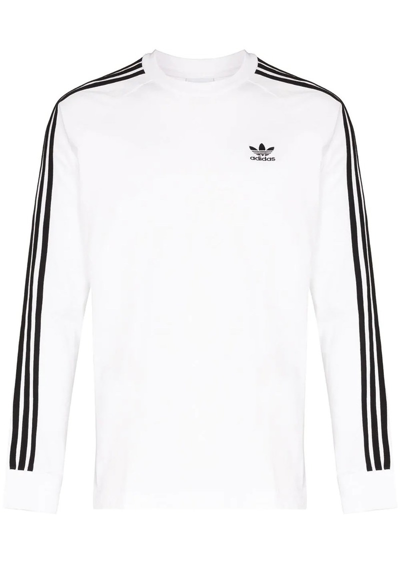 Adidas three-stripe long-sleeve T-shirt