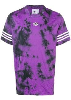 Adidas tie dye logo print T-shirt