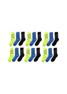 Adidas Tiger Style Crew Socks 6-Pack (Little Kid/Big Kid/Adult)