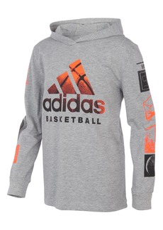 Toddler Boy's Adidas Kids' Basketball Goals Long Sleeve Hooded Graphic Tee