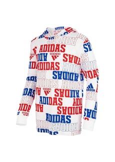 Adidas Toddler Boys Long Sleeve Collegiate Hooded Sweatshirt