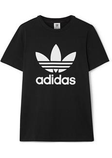 Adidas Trefoil Printed Stretch-cotton Jersey T-shirt