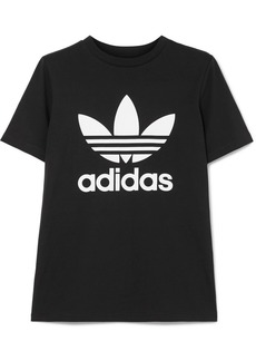 Adidas Trefoil Stretch-cotton Jersey T-shirt