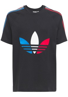Adidas Tricolor Trefoil Cotton Jersey T-shirt