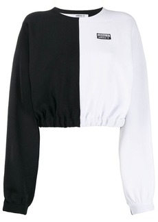 Adidas two-tone cropped jumper