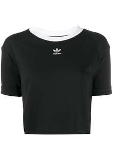 Adidas two tone cropped T-shirt