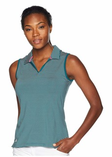 Adidas Ultimate 365 Stripe Sleeveless Polo
