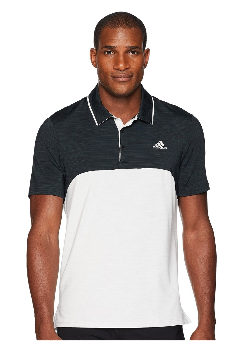 Adidas Ultimate Heather Blocked Polo