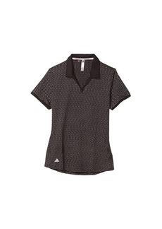 Adidas Ultimate365 Space Dye Striped Polo Shirt