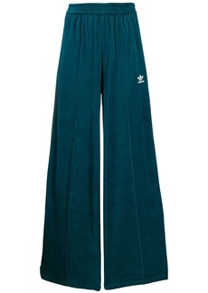 Adidas velour wide-leg sweatpants