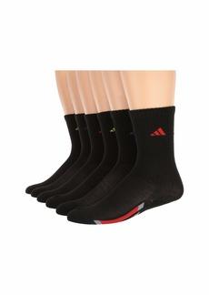Adidas Vertical Stripe Crew Socks 6-Pack (Toddler/Little Kid/Big Kid/Adult)