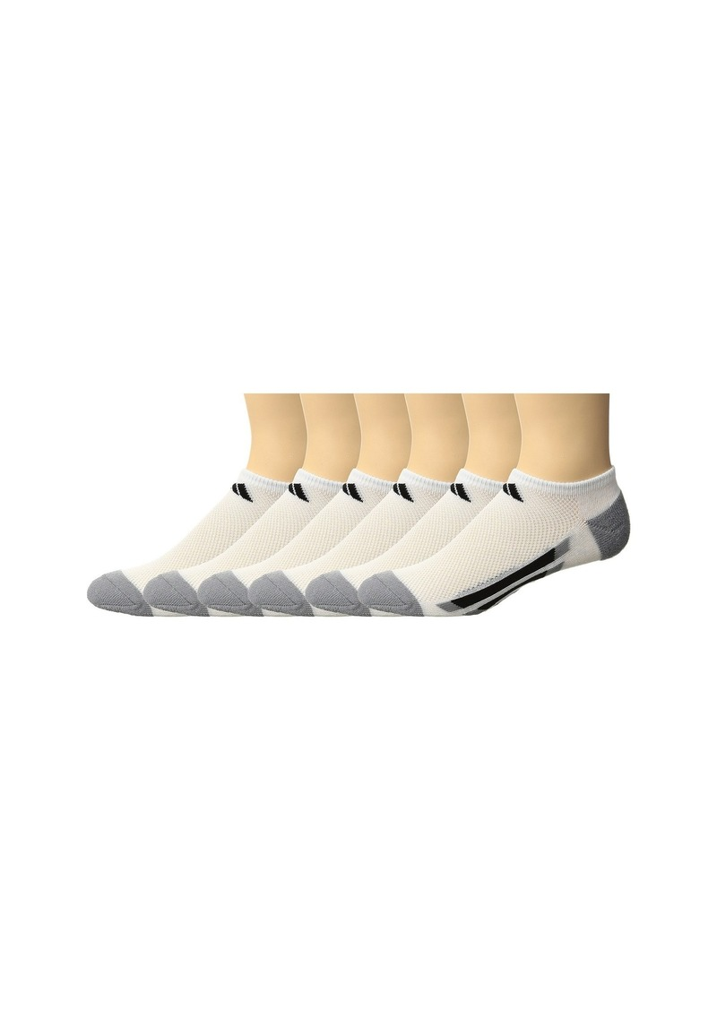 Adidas Vertical Stripe No Show 6-Pack (Toddler/Little Kid/Big Kid/Adult)