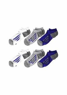Adidas Vertical Stripe No Show Socks 6-Pack (Little Kid/Big Kid/Adult)
