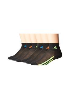 Adidas Vertical Stripe Quarter Socks 6-Pack (Toddler/Little Kid/Big Kid/Adult)