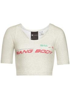 Adidas Wangbody Printed Cotton Cropped Top
