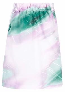 Adidas watercolour-effect track skirt