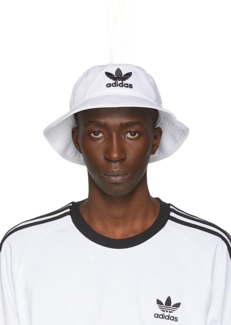 Adidas White & Black Adicolor Bucket Hat