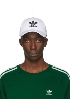 Adidas White & Black Trefoil Cap