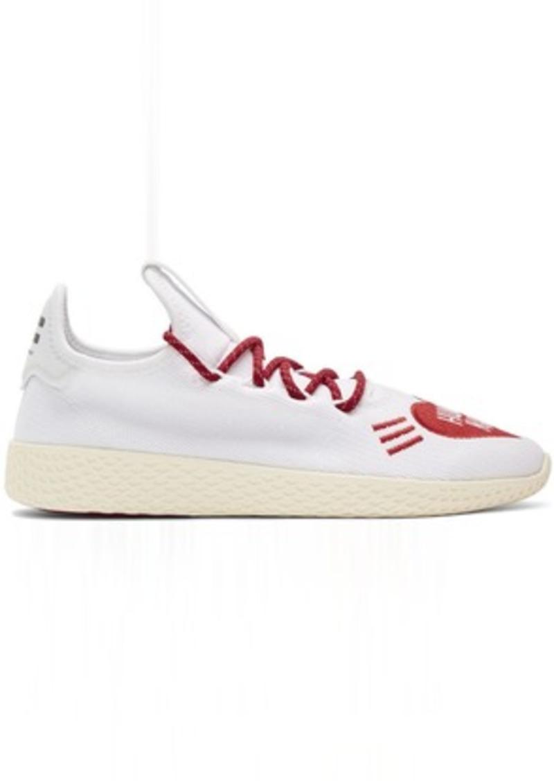 Adidas White & Red Human Made Tennis Hu Sneakers