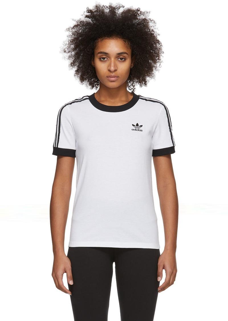Adidas White 3-Stripes T-Shirt