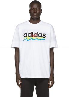 Adidas White Brush Stroke T-Shirt