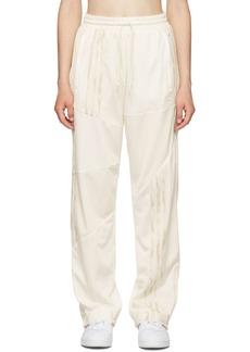 Adidas White Firebird Track Pants