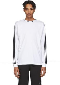 Adidas White Trefoil Long Sleeve T-Shirt