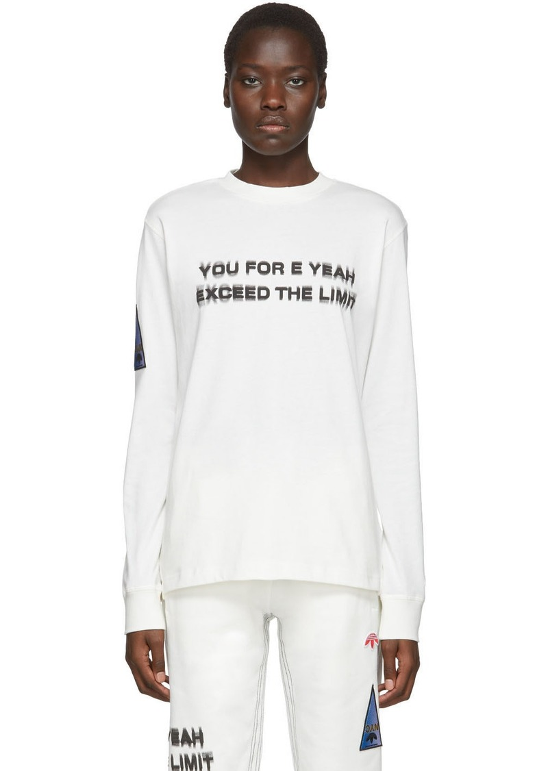 Adidas White 'You For E Yeah Exceed The Limit' Long Sleeve T-Shirt
