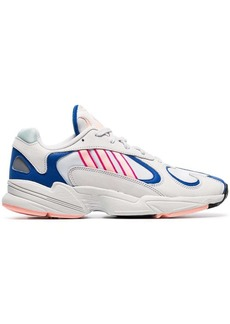 Adidas white Yung 1 Watermelon leather low-top sneakers