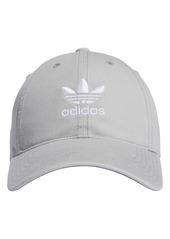Women's Adidas Originals Mini Trefoil Relaxed Strap Back Hat - Beige