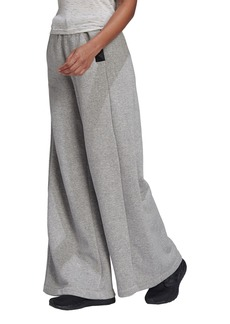 Women's Adidas Studio Lounge Wide Leg Fleece Pants