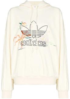 Adidas x Angel Chen embroidered logo hoodie