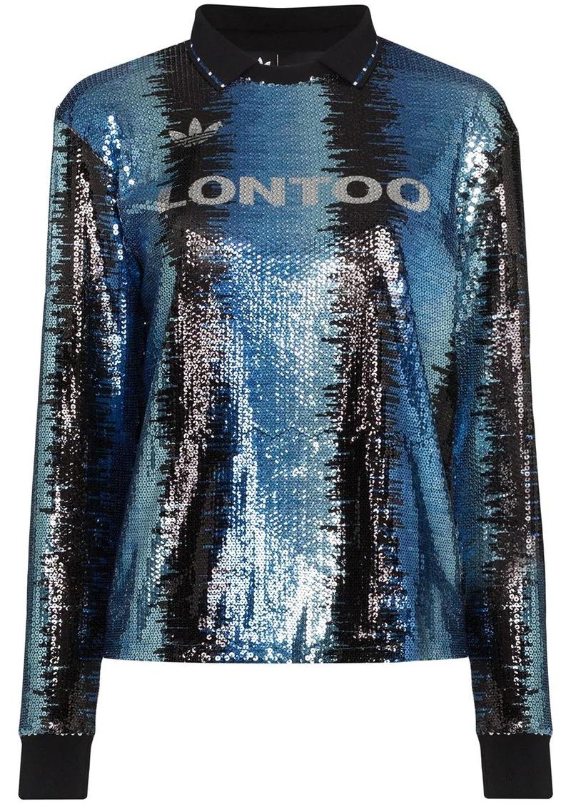 Adidas x Anna Isoniemi sequin top