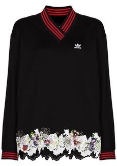 Adidas x Dry Clean Only V-neck sweatshirt
