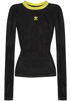 Adidas x Fiorucci sheer long-sleeve top